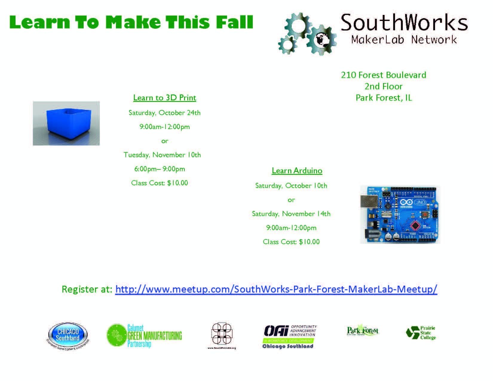 Flyer for Maker Space Workshops Oct and Nov.jpg